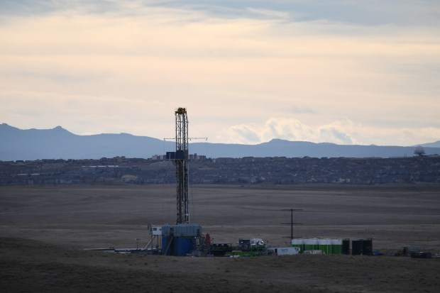 Conoco oil rig in Aurora on ...