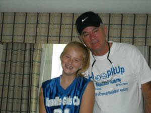 Bailey Sellers and her father, Michael ...
