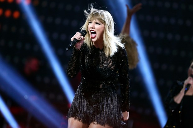 """Taylor Swift performs in Houston on Feb. 4. Her new album, """"Reputation,"""" will be released Friday."""