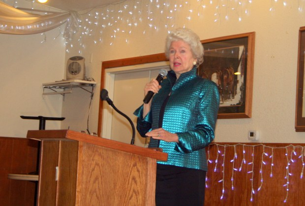 "During a 2014 talk in Fort Morgan, former Miss Colorado and Miss America Marilyn Van Derbur encourages adults to talk with kids about appropriate touching and sexual matters. Van Derbur is the author of ""Miss America by Day,"" in which she chronicles being molested by her father from age 5 to 18."