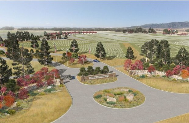 Artists rendering of Pikes Peak National Cemetery