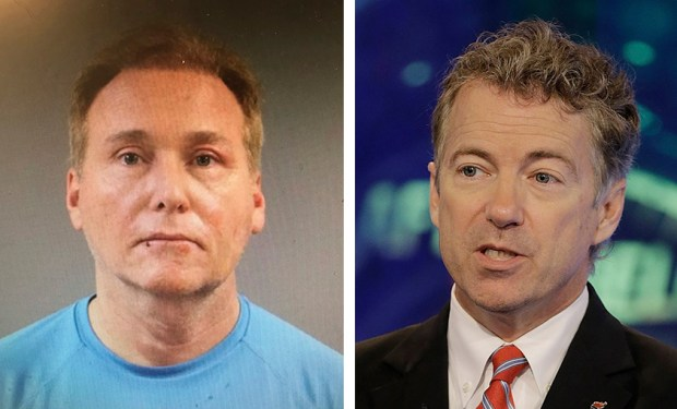 U.S. Sen. Rand Paul, right, was attacked last Friday by his neighbor, Rene Boucher. The attack left Paul, a Republican from Kentucky, with five broken ribs.
