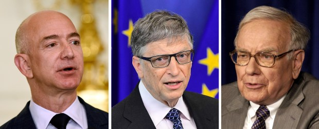 Jeff Bezos, Bill Gates and Warren Buffett, the three richest people in the U.S., have more wealth than the entire poorest half of the American population combined.