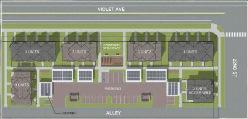 Flatirons Habitat for Humanity's biggest-ever proposal in Boulder calls for 19 units on just more than an acre of land at 2180 Violet Ave.