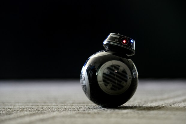 A StarWars' BB9E connected toy robot ...