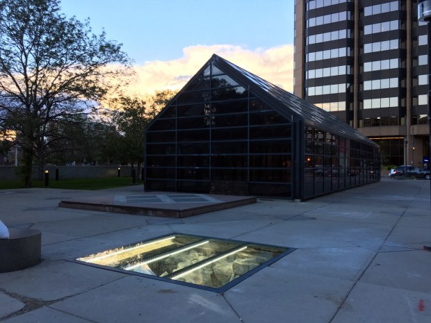 """Unclassified Site Museum,"" which was created by Black Cube Nomadic Museum in 2016, was an art installation that revealed a city block-long archeological dig. It was located at the now-closed RTD Market Street Station in downtown Denver."