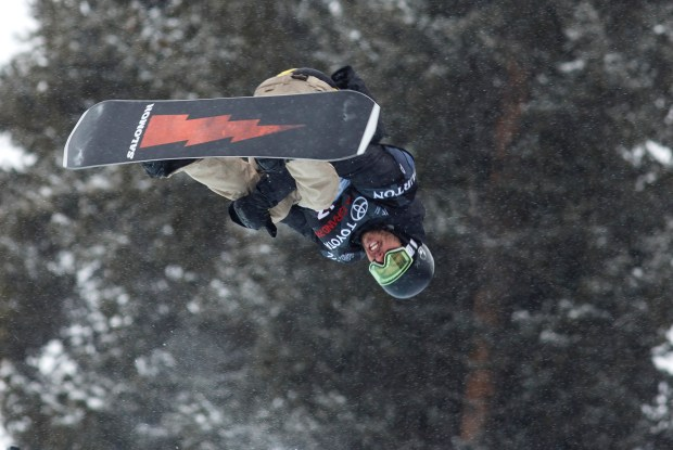 Ryan Wachendorfer, of United States, competes in the halfpipe qualifier during the U.S. Grand Prix event Thursday, Dec. 7, at Copper Mountain. (Photo by Hugh Carey/Summit Daily)