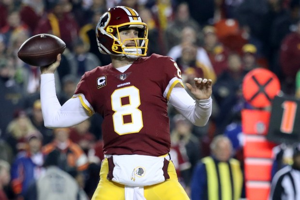 Quarterback Kirk Cousins #8 of the ...