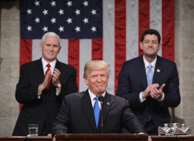 President Donald Trump prepares to deliver his first State of the Union address Tuesday evening.
