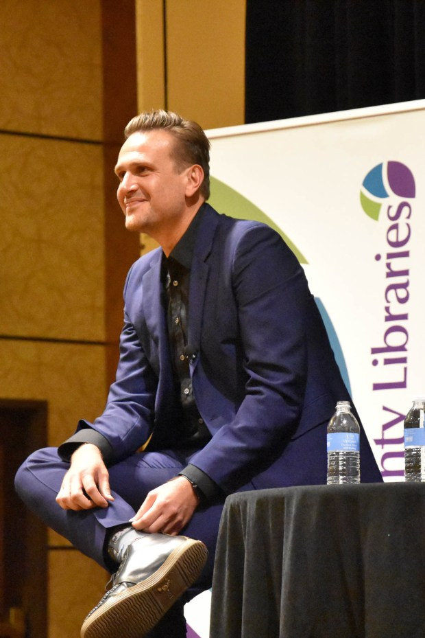 Actor/author Jason Segel at a talk and book signing for Douglas County Libraries at the Lone Tree Marriott in November 2016.