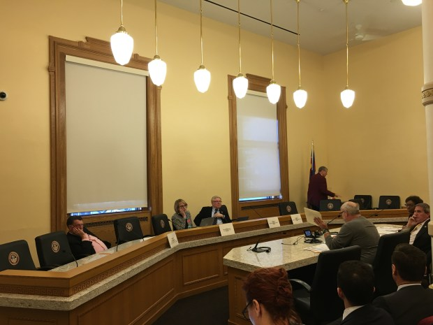 Tom Sullivan, whose son Alex was killed in the 2012 Aurora theater shooting, testifies Monday at the Colorado legislature.