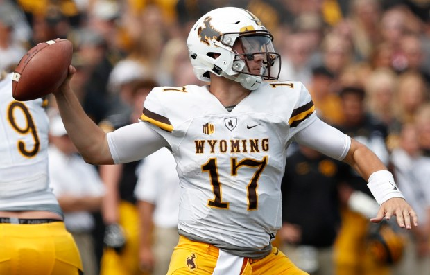 newest collection a975e 0adc8 In this Sept. 2, 2017, file photo, Wyoming quarterback Josh Allen throws