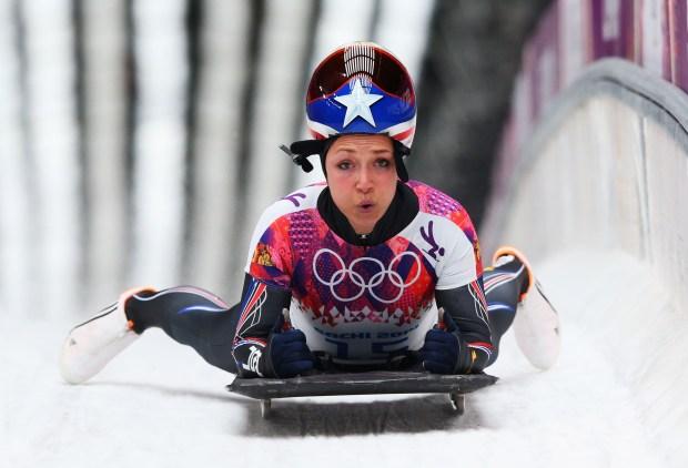 Katie Uhlaender of the United States ...