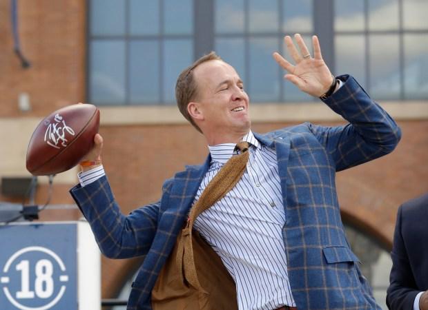 Former Indianapolis Colts quarterback Peyton Manning ...