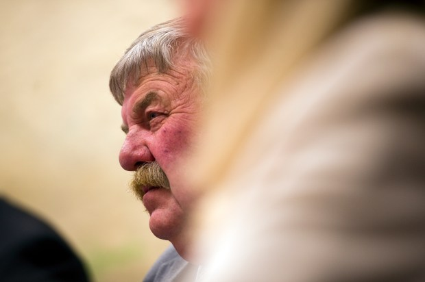 State Sen. Larry Crowder, R-Alamosa, listens to testimony in 2013.