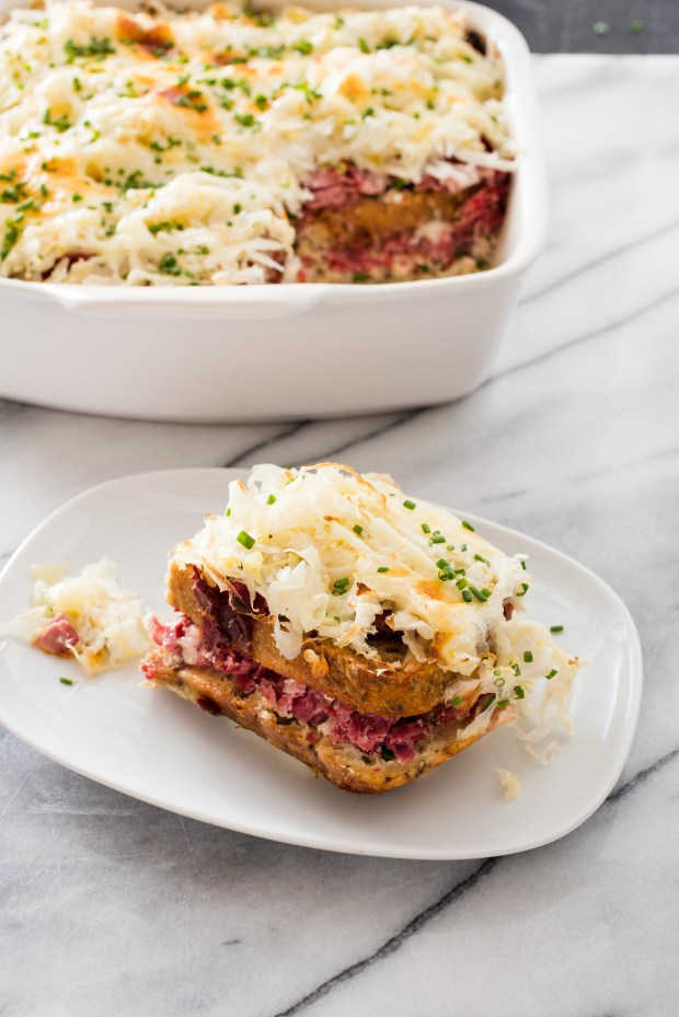 "Reuben Strata from ""One-Pan Wonders"" by America's Test Kitchen (Cook's Country 2017)"