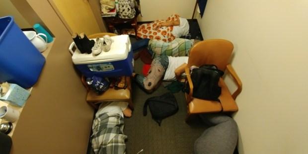 Immigration activists called the Denver6 sleep inside Sen. Michael Bennet's office overnight