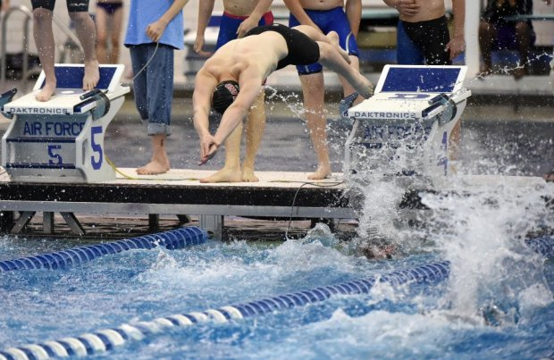 Eleven members of the Air Force Academy swim team have been removed from a meet due to a misconduct investigation, the military school said in an email.