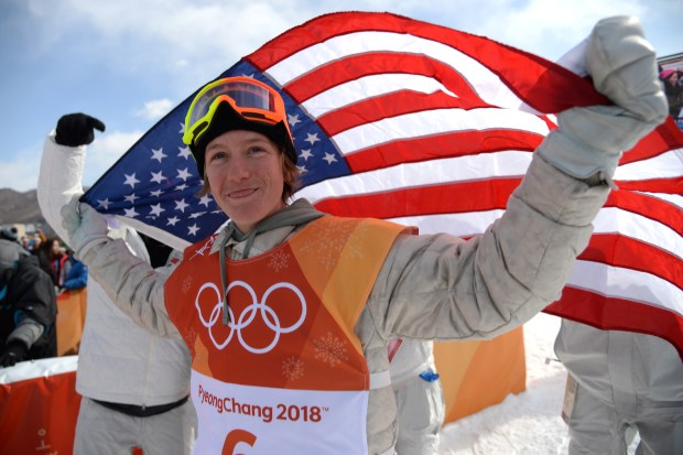 Silverthorne snowboard phenom Red Gerard celebrates after winning the United States' first gold medal in the 2018 Winter Games in PyeongChang, South Korea, last Sunday. A Colorado committee is considering whether to place a bid to host the Olympics in 2026 or 2030.