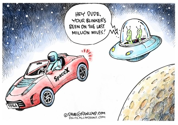 Drawn To The News Tesla Launched Into Space