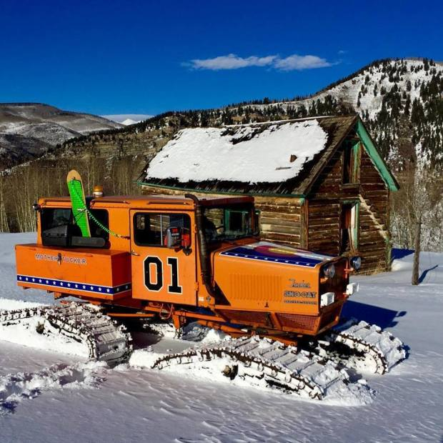 "The ""General Lee"" Sno-Cat from Minturn is pictured in this undated photo."