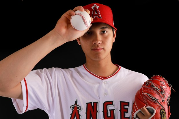 Shohei Ohtani #17 of the Los ...