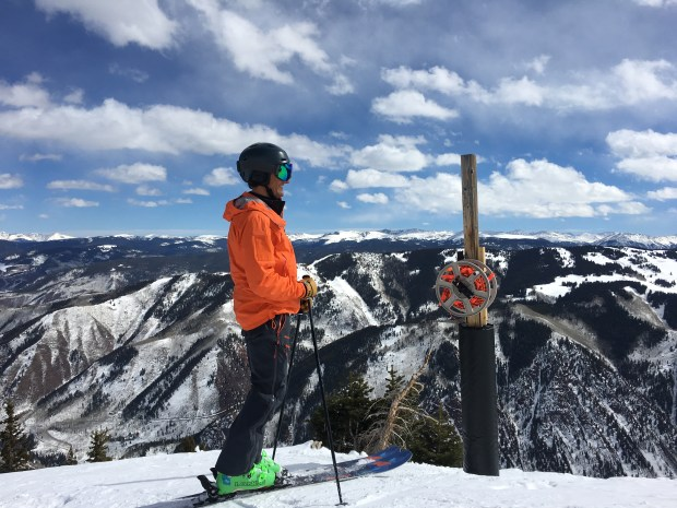 Aspen Skiing Co. CEO Mike Kaplan poses at Aspen Highlands in March 2018.