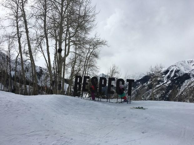 """An """"Aspen Way"""" installment at Aspen Highlands."""