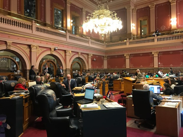 Colorado state senators debate legislation on Friday, March 23, 2018. They passed along Senate Bill 108, which bolsters Colorado's program for people living in the country illegally, by a 25-10 vote.