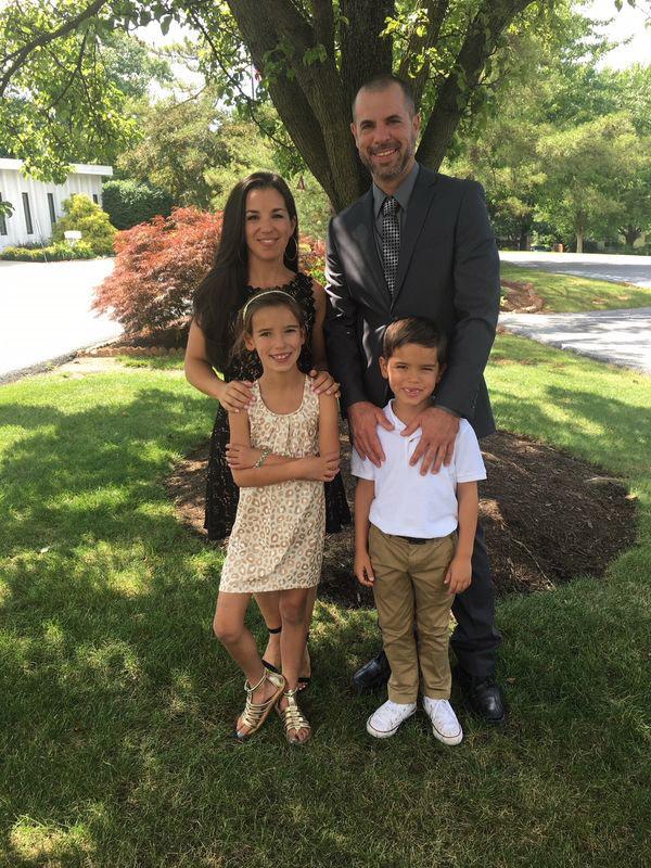Corinne and Joe Bobbie with children Sophia and Joey.