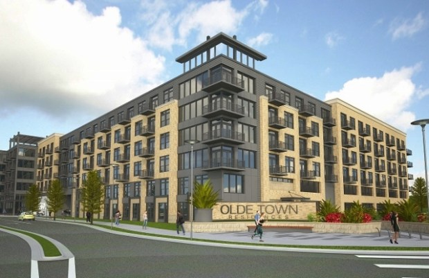 Developer Trammell Crow's project, Olde Town Residences, met opposition from the community, and initial plans for the Grandview Avenue site were rejected by City Council in January.
