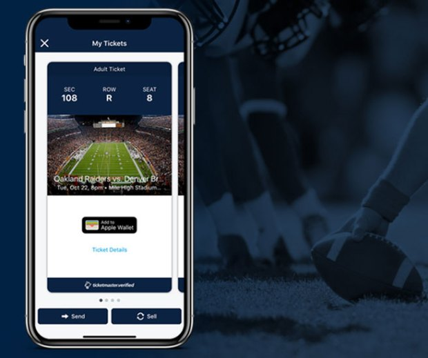 Denver Broncos switch to digital ticketing  through Ticketmaster mobile site.