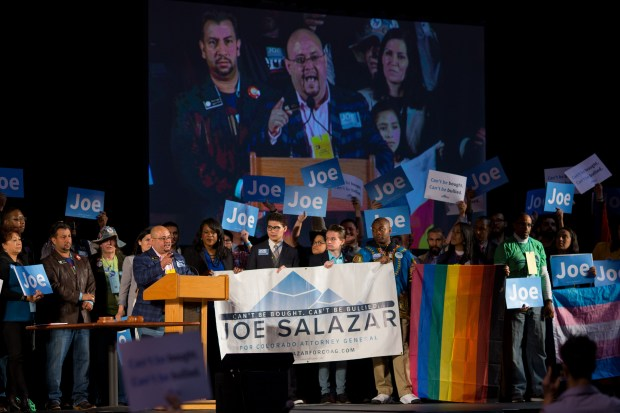 Joe Salazar, candidate for Attorney General, ...