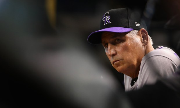 Manager Bud Black #10 of the ...