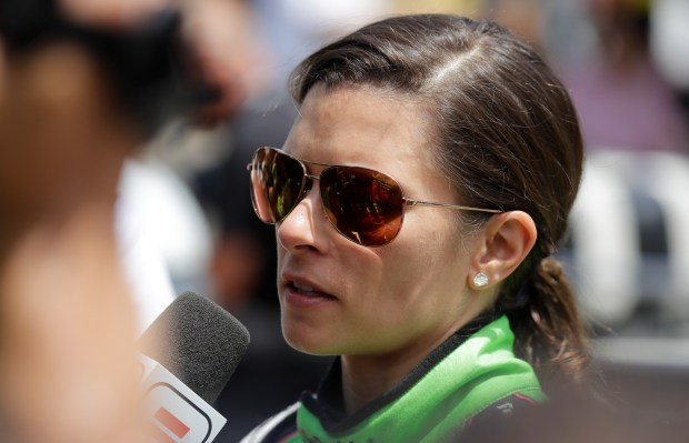 Danica Patrick is interviewed following her ...