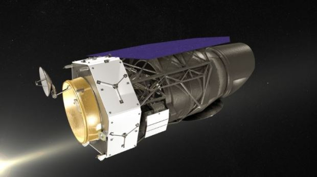 Conceptual drawings for NASA's Wide Field Infrared Survey Telescope (WFIRST). Primary instrument components for the telescope will be built by Boulder-based Ball Aerospace.
