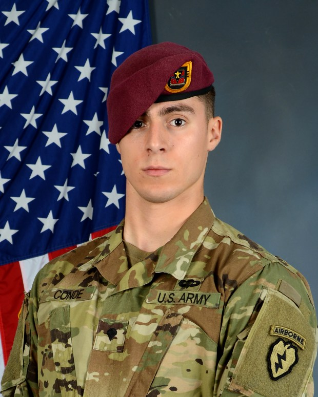 Spc. Gabriel David Conde, 22, was killed in action in Afghanistan on April 30, 2018.