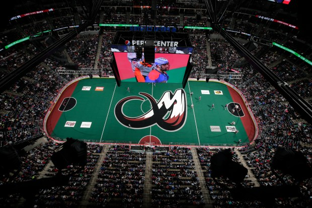 The view above an NLL game between the Buffalo Bandits and Colorado Mammoth at the Pepsi Center on Saturday, March 3, 2018, in Denver.