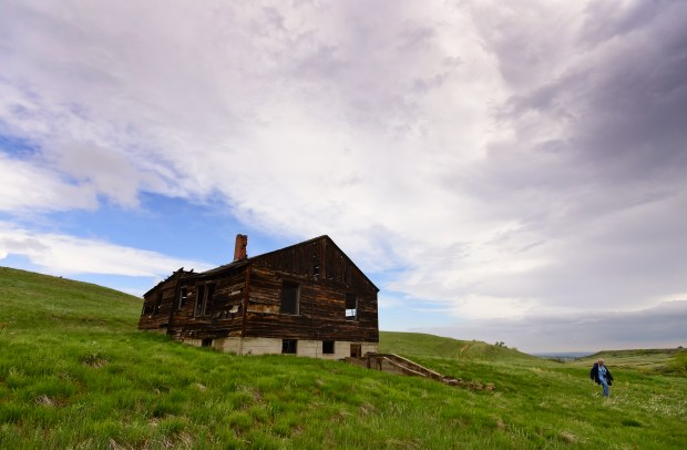 The Lindsay Ranch homestead is seen ...
