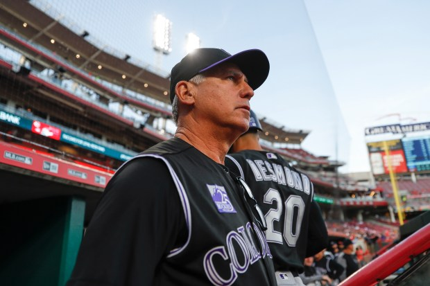 Colorado Rockies manager Bud Black watches ...