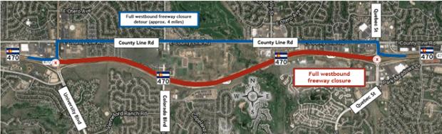 C-470 overnight closure detours