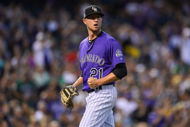Kyle Freeland #21 of the Colorado ...