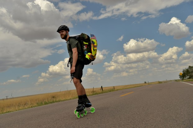 Mike Lempko is rollerblading across the ...