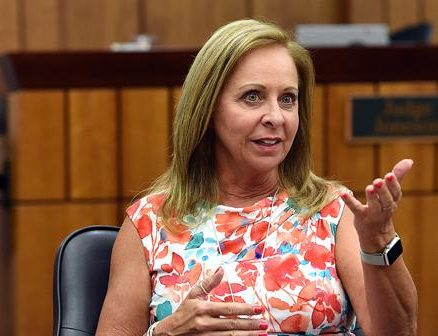 Sitting in her courtroom, city of Loveland Municipal Judge Geri Joneson talks Monday, Aug. 27, 2018, about her approach to cyberbullying.