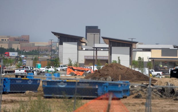 Construction crews continue work at the ...