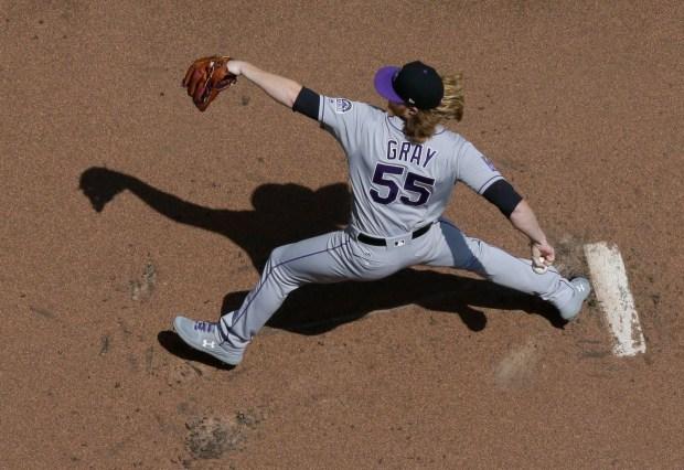 Colorado Rockies starting pitcher Jon Gray ...