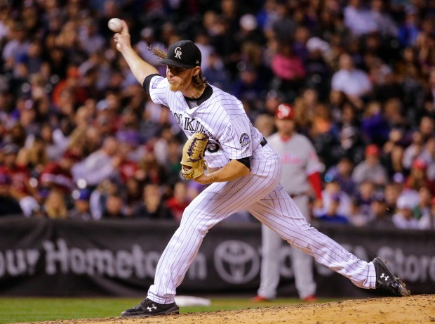 Colorado Rockies starting pitcher Jon Gray ...