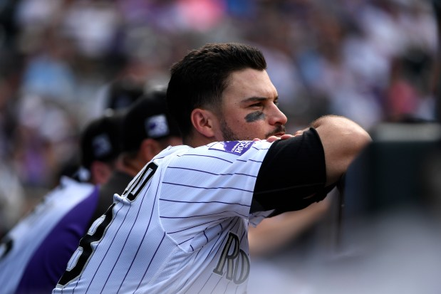 Colorado Rockies Nolan Arenado looks dejected ...