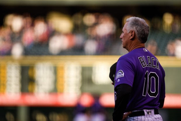 Manager Bud Black of the Colorado ...