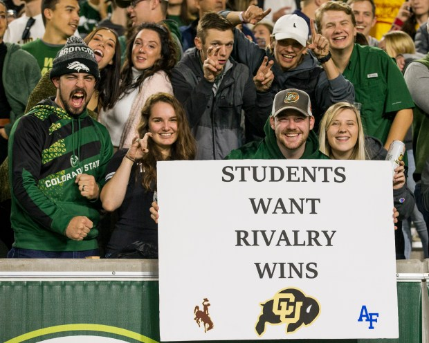Colorado State fans cheer for the ...
